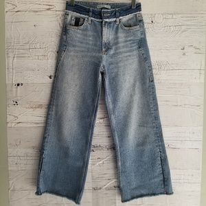 Zara high waist crop denim jeans in light wash